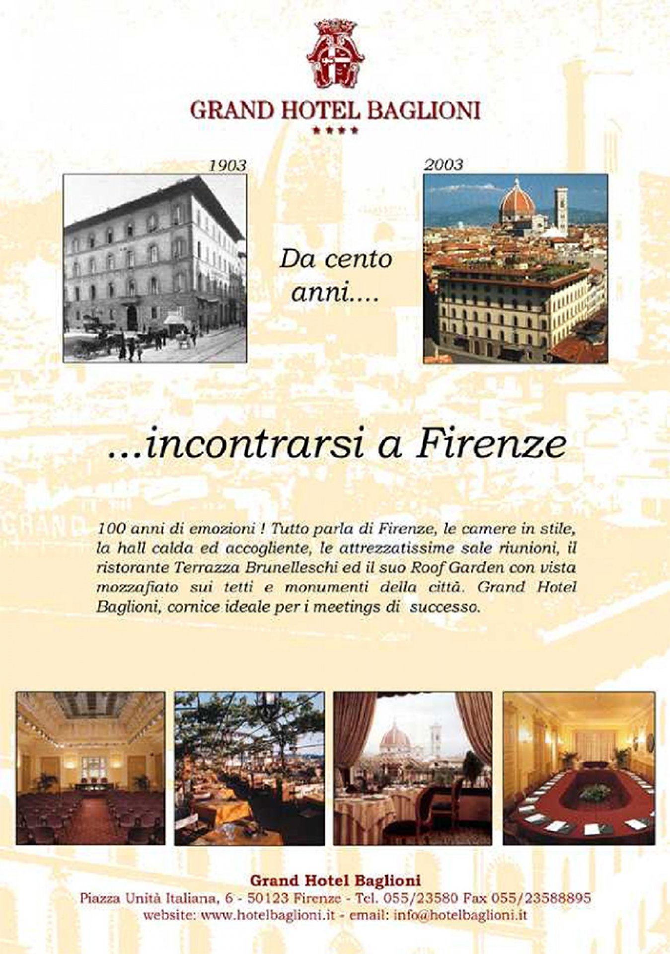Advertising Grand Hotel Baglioni Firenze